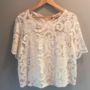 NWT Nanette Lepore Spring Fling Lace Top sz XL